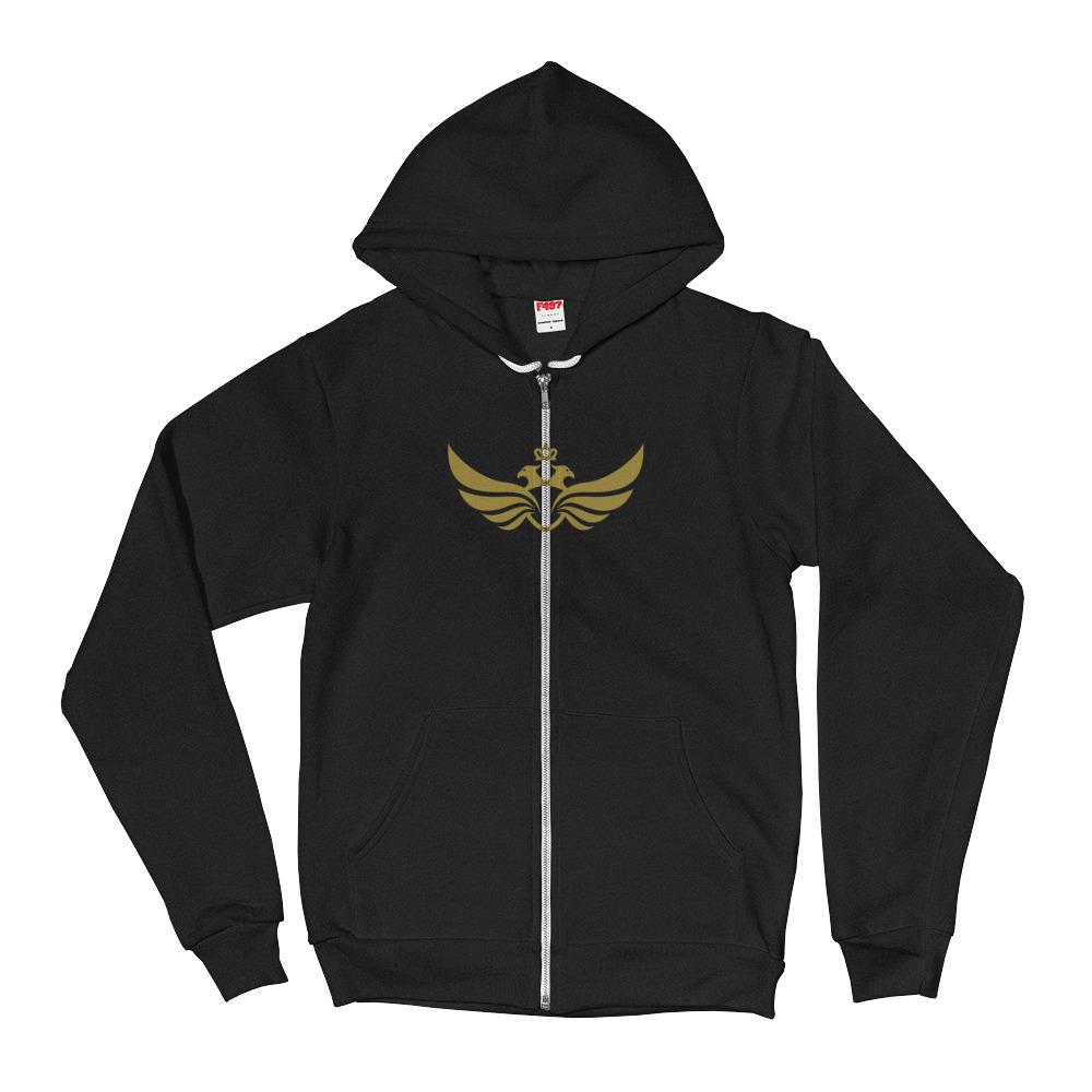 Sweater Men's Hoodie Gold Logo Large Eagle